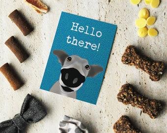 Card - General - Big nose greyhound