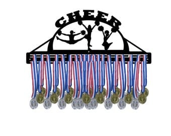 CHEER/CHEERLEADING Awards Medal Hanger Display
