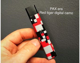 Pax Era skin wrap Red Digital Camo skin wrap by Jwraps