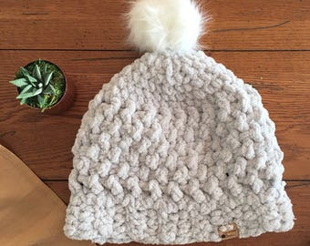 Super Soft and Chunky Winter Hat with Pom Pom