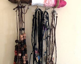 Pink Ombre driftwood Jewelry display