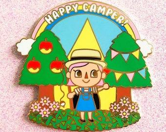 Happy Camper Animal Crossing Enamel Pin