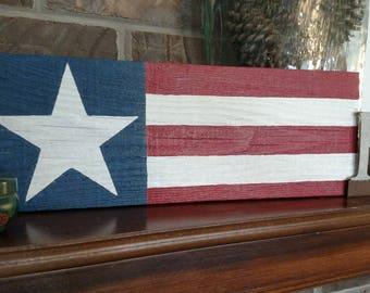 American Flag, Pallet wood
