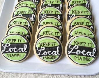 Personalized Brand Cookies, Logo Cookies, Business Cookies, Promotion Cookies, Logo treats, Set of Fifteen