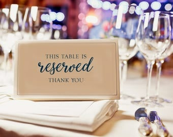 Reserved Table Sign / Reserved Sign / Wedding Table Sign / Reserved Table / Reserved Wedding Table / Printable Sign / Reserved Printable
