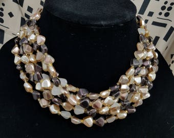 Gorgeous Multiple Strand Beaded Necklace From Japan
