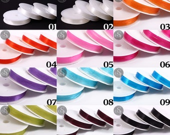 14m or 15m flexible nylon thread 0, 4 mm or 0, 6 mm thickness in wide range of colours / / thread / thread / necklace / / colorful