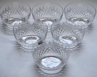 Antique Cut Crystal Finger Bowls Lot of 6