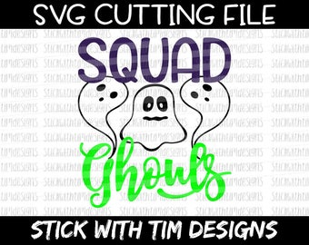 Squad Ghouls SVG and PNG, Halloween Svg, Girl Svg, Ghouls Svg, Girl Shirt Svg, Svg Files For Cricut, Svg Files for Silhouette Girl Squad Svg