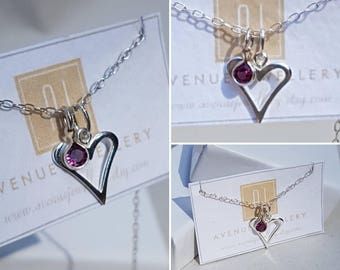 Real Ruby Heart Charm Pendant 0.14ct 3mm in 925 Sterling Silver