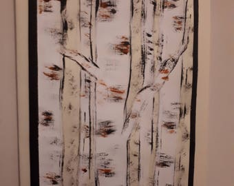 Birch tree holiday card 2