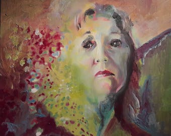 Portrait 5, acrylic on canvas panel