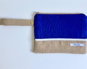 Wrist purse blue