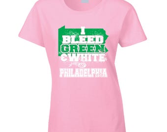 I Bleed Green And White T Shirt