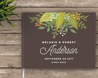 Wedding Guest Book, Boho, Wildflowers, Floral Wedding Guestbook, Custom Guest Book, Personalized Guest Book, guest book, garden wedding