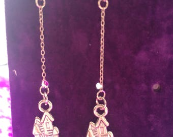 Fairy castle earrings
