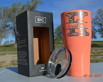 30 oz. Sic Powder Coated Tumbler - New and Improved - Personalized - Engraved
