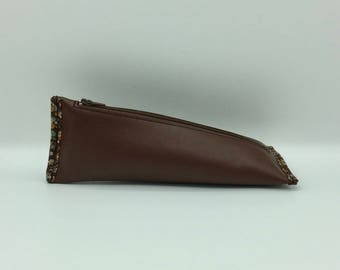 Cherry brown leather case