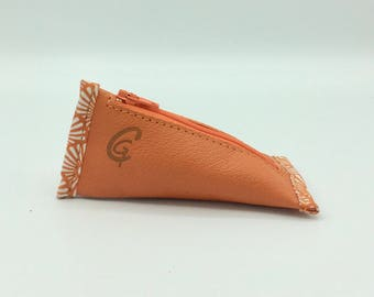 Cherry Orange Leather Wallet