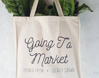 Going To Market Farmer's Market Tote Bag