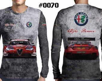 New ultramodern 3D  High Quality Alfa Romeo Short sleeve Men's T-shirt