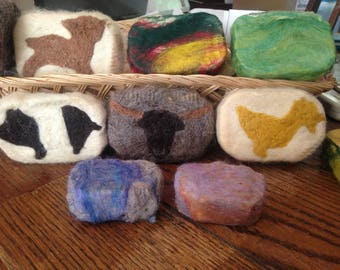 Needle Felted Goats Milk Soap ! Wet felted soap ! All natural Felted Goats Milk Soap. 10++ scents to choose from