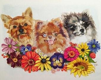 Pet Portrait Original Trio