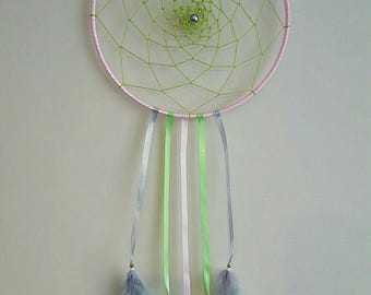 20cm grey pink green custom dream catcher