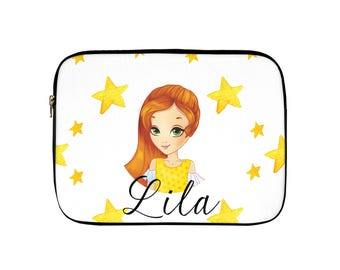 Personalised Laptop Sleeve.  Add Your Own Name.  Character Laptop Sleeve.  Laptop Case. Macbook Case