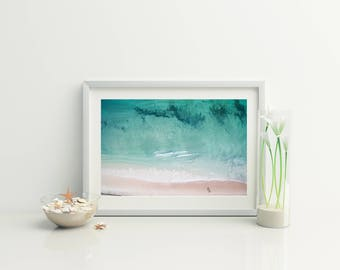 Beach Aerial Photo // Nordic Wall Print // Coastal wall print // Beach Photography / Ocean Photo // beach photo // Beach Print // Home Decor