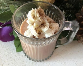 Cup of Cocoa Candle / 100% Soy Wax Candle / Handcrafted / Vegan Friendly / Holiday Candle / Gift For Her / FREE SHIPPING (US)