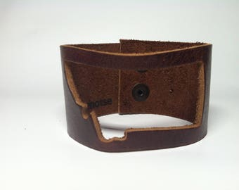 Montana leather bracelet