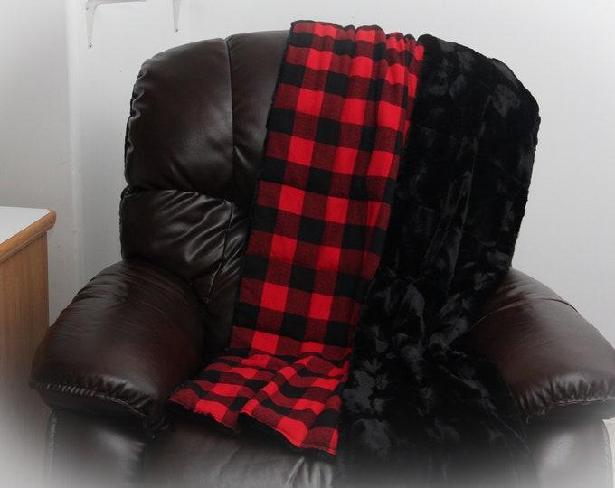 Buffalo Plaid Blanket | Bohemian Decor | Boho Decor | Cotton Flannel Blanket | Rustic Blanket | Cabin Blanket | Lumberjack Blanket
