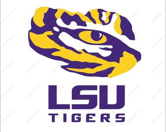 LSU Tigers SVG LSU Tigers logo Tigers svg party Svg Dxf Eps Png Ai Digital File design Print Mug Shirt Decal