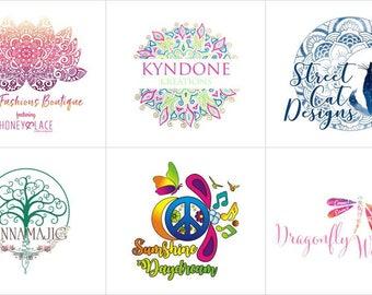 Bohemian Logo Design, Boho Logos, Custom Logo Design, Business Logo, Mandala Logo, Floral Logo, Antler Logo, Colourful Logo, Exclusive Logo