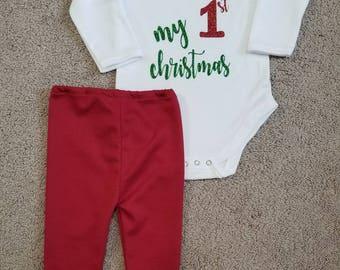 My First Christmas Shirt and Pants Set
