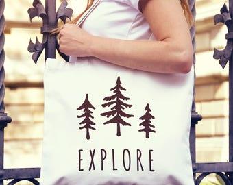 Explore National Parks Canvas Tote Bag