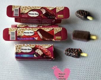 Dolls House Miniature Ice Cream-1pack