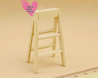 Dolls House Miniature Wooden StepLadders