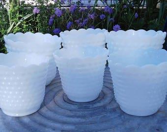 Vintage Fire King Jardiniere Planters/Vases - Set of 6