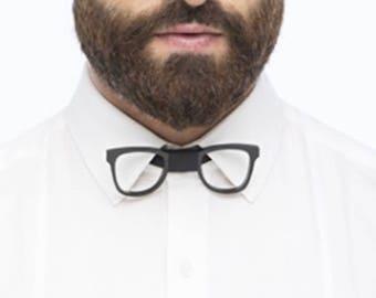 Dapper Spectacles Black Bow Tie - Honeycomb Style ( Suit Accessories - NeckTie, Neck tie , Modern Geometric Bow tie)