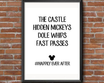 Happily Ever After Art Print - Printable