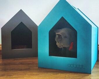 Cat Litter Box Cover - Pet House - Hideaway - Scandinavian Style Pet Furniture - Modern Litter Box Cabinet - Gift for a Cat Love