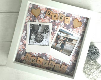Gift For Best Friend, Best Friends Frame, Personalised Best Friend Frame, Gift For Friend, Scrabble Frame, Personalized Scrabble Art.