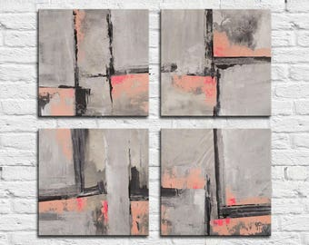 ABSTRACT PAINTING - Original Canvas Art Contemporary Abstract Modern Art  . 4x16x16 inch   inch abstract wall art  4x  40x40cm
