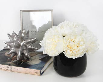 White Peony Flower Arrangement