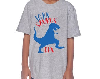 Personalized T-Rex T-shirt