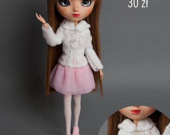 White sweater for Pullip Stock, Obitsu 27 hard, Obitsu 27 soft