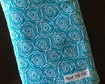 Indie Blue Flower Book Sleeve