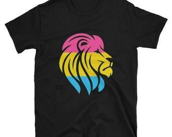 Pansexual Pride Lion Unisex T-Shirt  lgbt lgbtqipa lgbtq mogai pride flag bi pride